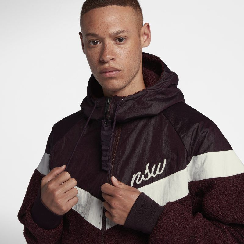 design di qualità vasta gamma professionale Nike Sportswear NSW Sherpa Windrunner Men's Jacket - Red | Sherpa ...