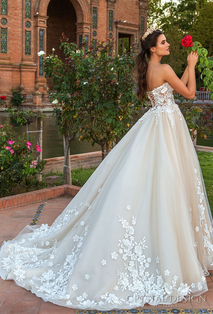 Beautiful Wedding Dresses From The 2017 Crystal Design Collection Sevilla Bridal Campaign Wedding Inspirasi Strapless Wedding Dress Princess Princess Wedding Dresses Beautiful Wedding Dresses [ 1326 x 900 Pixel ]
