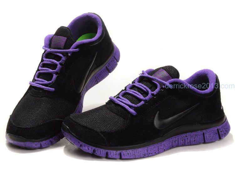 promo code f144e 1be1a purple shoes   ... Nike Free Run 3 Black Club Purple Running Shoes Cheap  For Sale Online