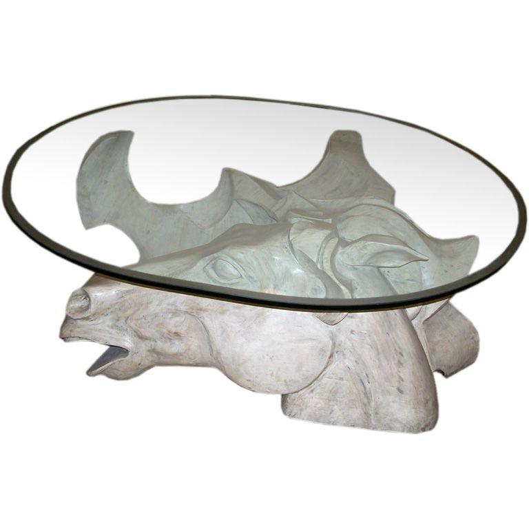 Impressive Oversized Horse Head Coffee Table by Romeo Tamanti