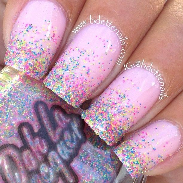 Photo of Pink Sparkle Nail Polish Awesome Birthday Nail Inspiration Baby Pink & Glitter N …