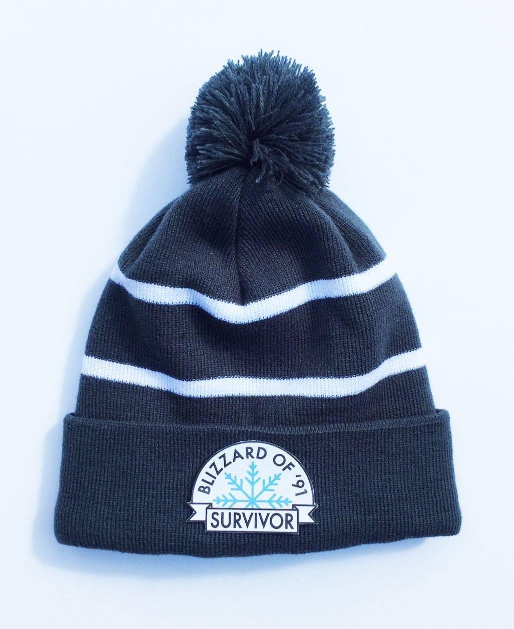 Last Chance Minnesota Blizzard Of 91 Survivor Winter Pom Hat