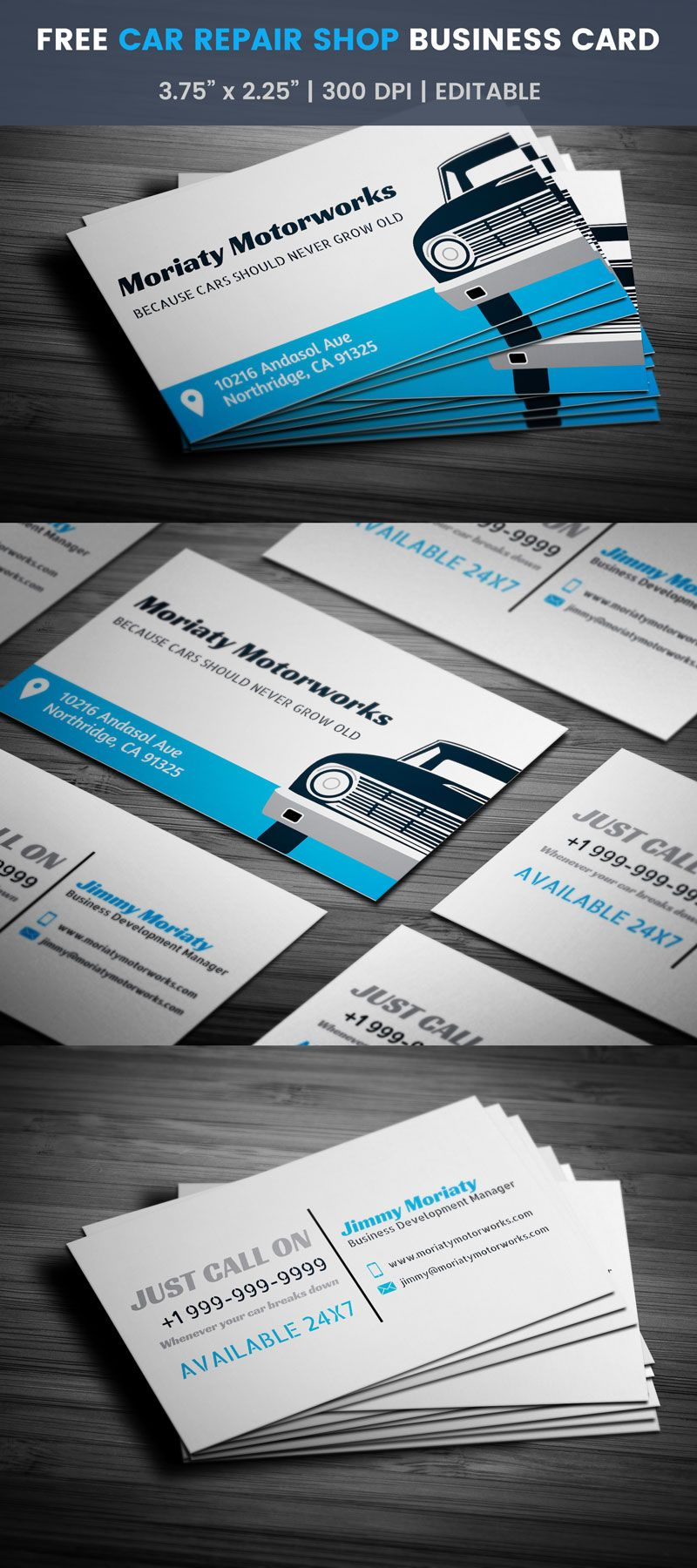 Free Car Repair Business Card | Car repair, Business cards and Business