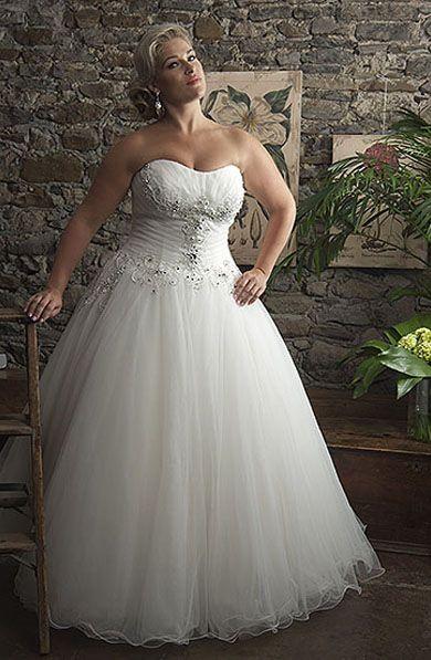 Alfred Sung   Brides Plus Size · Organza Wedding GownsIvory ...