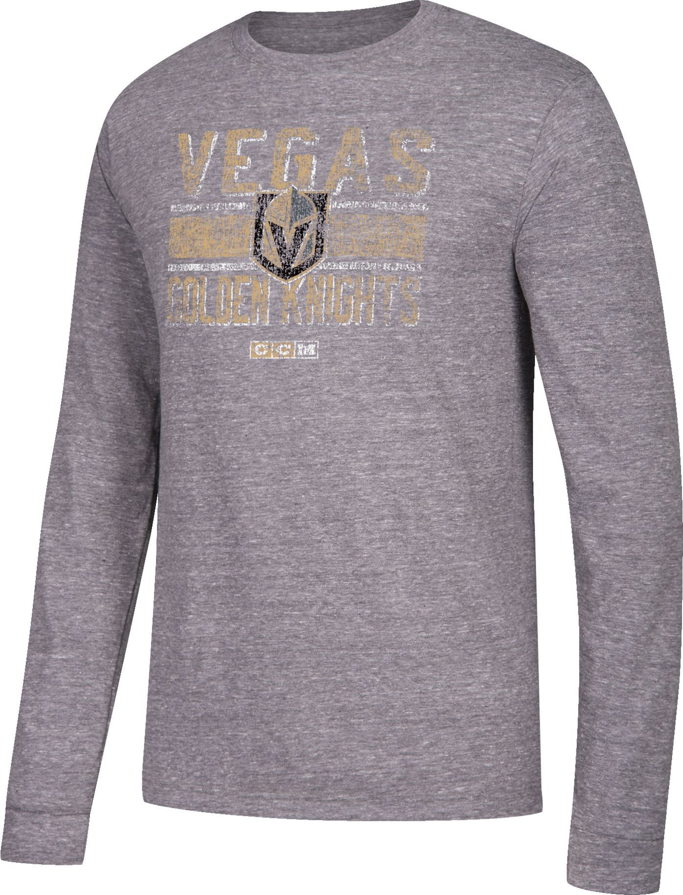 on sale 0e7c6 74897 CCM Men's Vegas Golden Knights Line Brawl Grey Long Sleeve ...