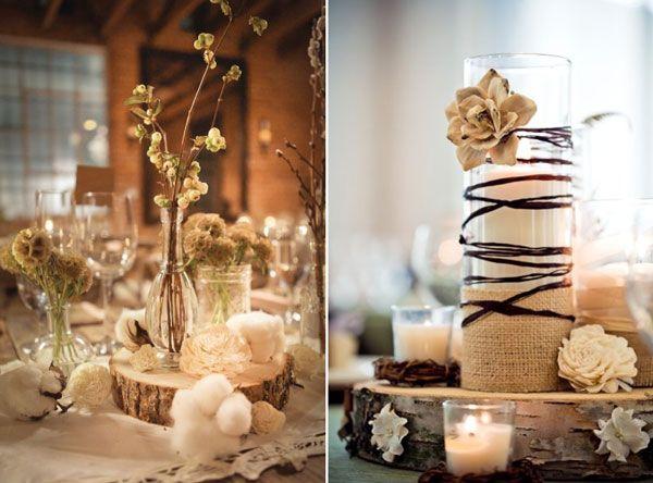 id es pour un centre de table champetre d coration de salle wedding decorations mariage et. Black Bedroom Furniture Sets. Home Design Ideas