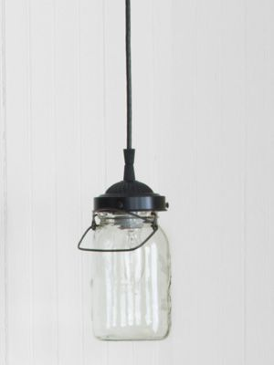 I just love the idea of making a mason jar into a light!