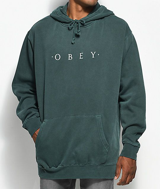 66a10f989a Obey Novel Dusty Forest Pullover Hoodie