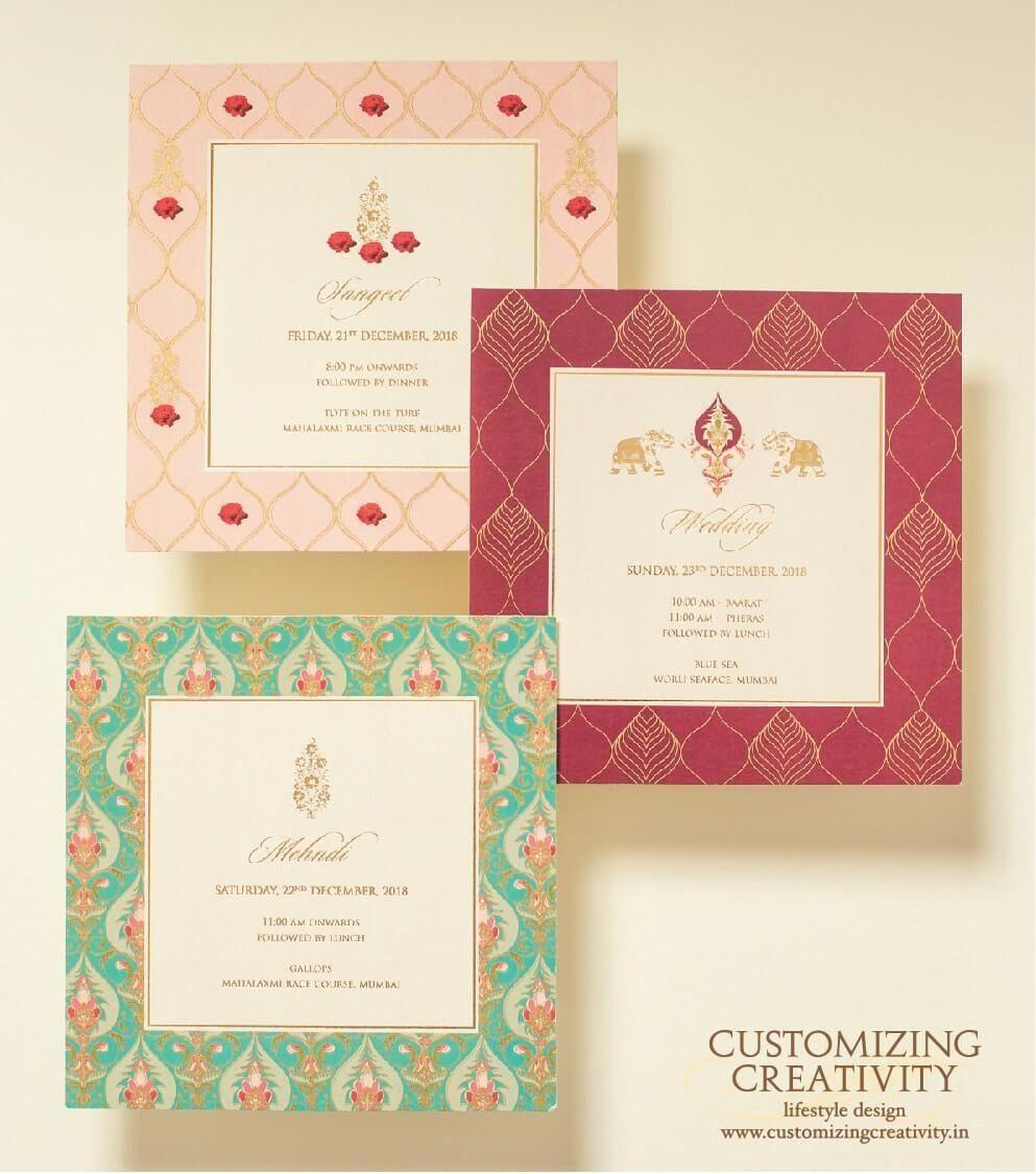Simple Elegant Wedding Invites Weddinginvitations Indian Wedding Invitation Cards Unique Wedding Invitations Unique Wedding Cards