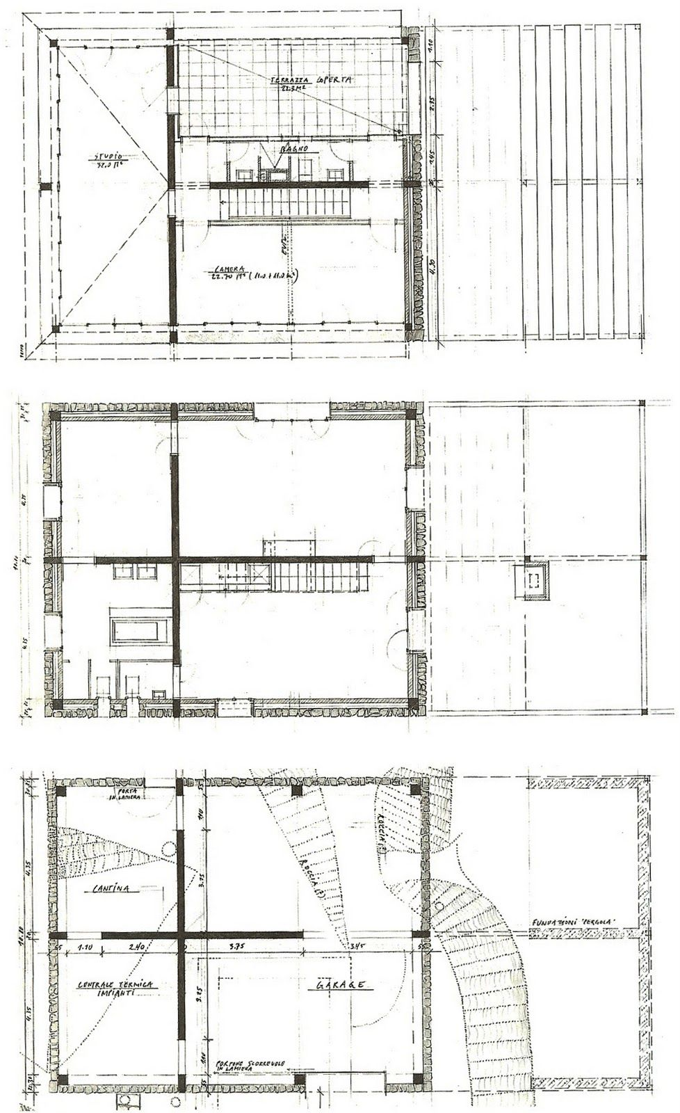 Plans Of Architecture Herzog De Meuron Stone House 1982 1985 Tavole Stone House Architecture Plan Stone House Plans