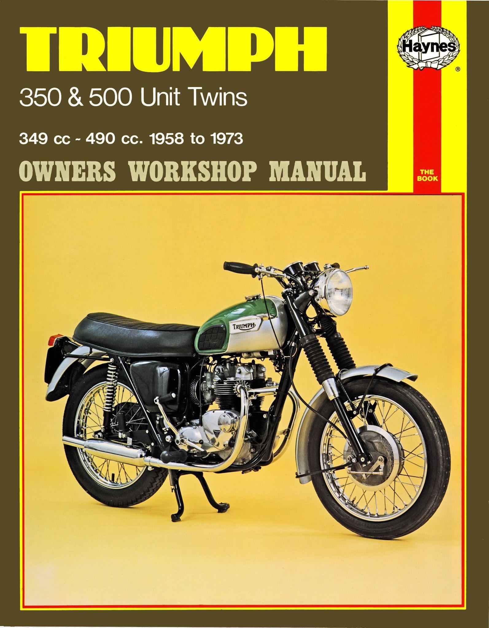 haynes m137 service repair manual for 1957 73 triumph 350 and 500 rh pinterest com 1969 Triumph Bonneville 1965 Triumph Bonneville