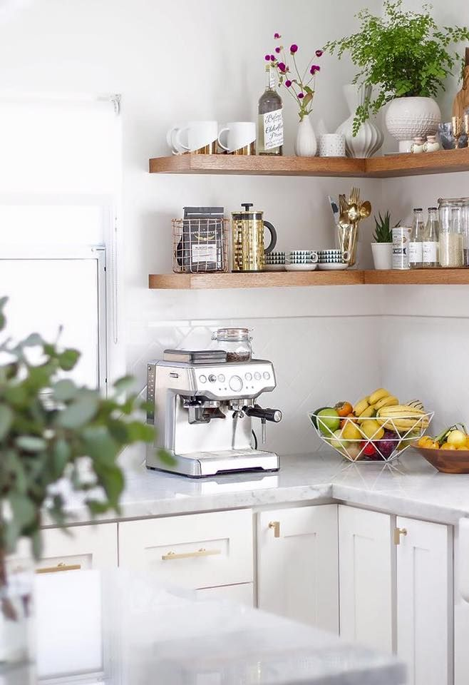 The Benefits Of Open Shelving In The Kitchen: Pin By Coffee Lovers On Good Morning Coffee In 2019