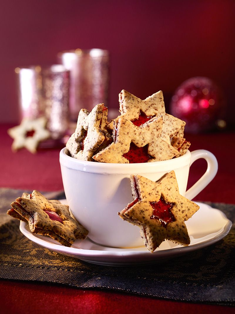 Fruchtige Mohnsterne | Rezept | Weihnachtsrezepte, Kuchen ...