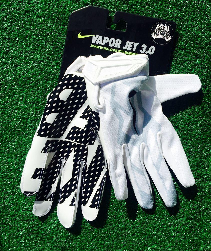 Nike Vapor Jet 3 0 Football Gloves Gf0486 100 White Black Gray Large