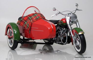 Franklin Mint Christmas Harley Duo Glide