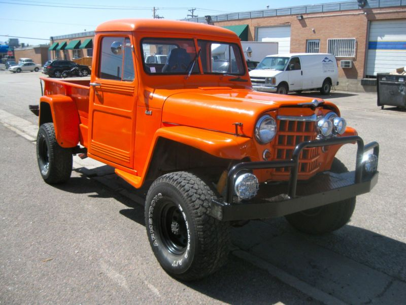 1950 Orange Willys Pickup 4X4 473