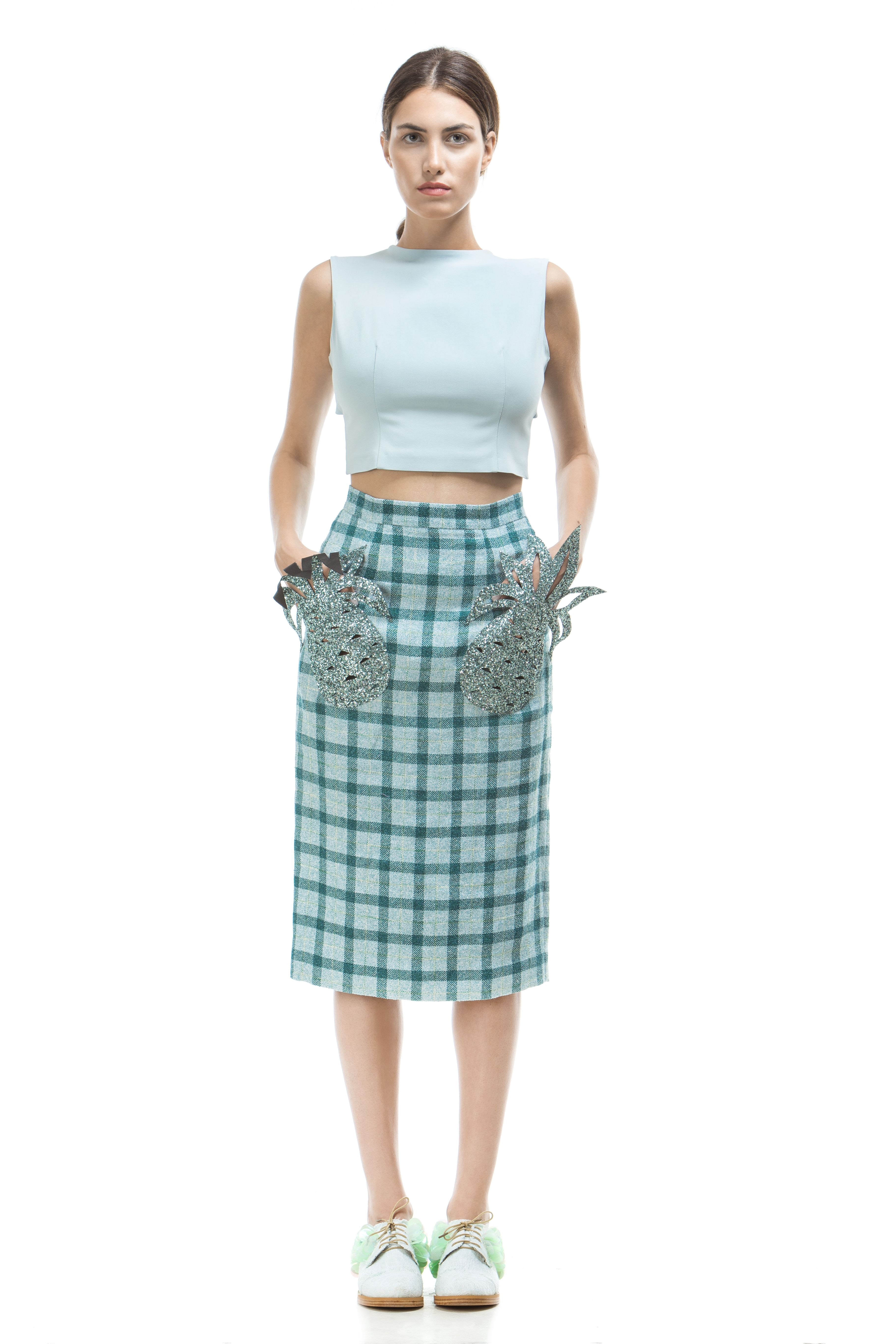 80b1844008e0 Graham Forest Green Plaid Mini Skirt
