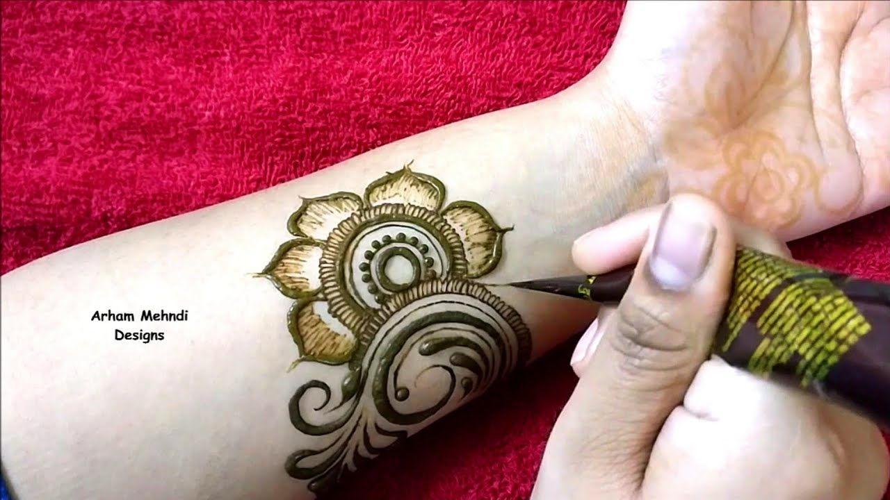 Latest Stylish Big Flower Mehndi Design For Hand Arham Mehndi