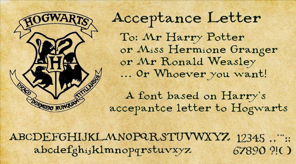 Acceptance Letter By Decat On Deviantart Harry Potter Acceptance Letter Hogwarts Acceptance Letter Hogwarts Font