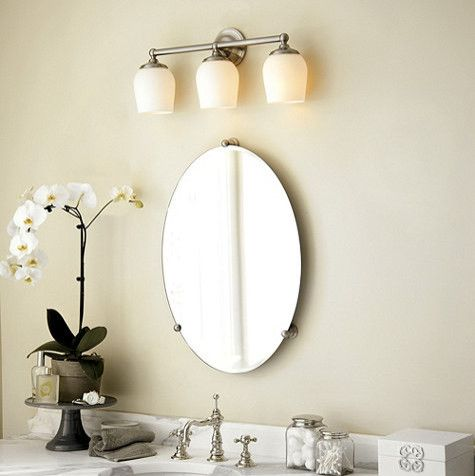 Frameless Oval Bathroom Mirror With Light Vanities