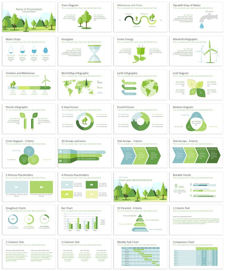 Ecology PowerPoint Template Presentation Template Templates