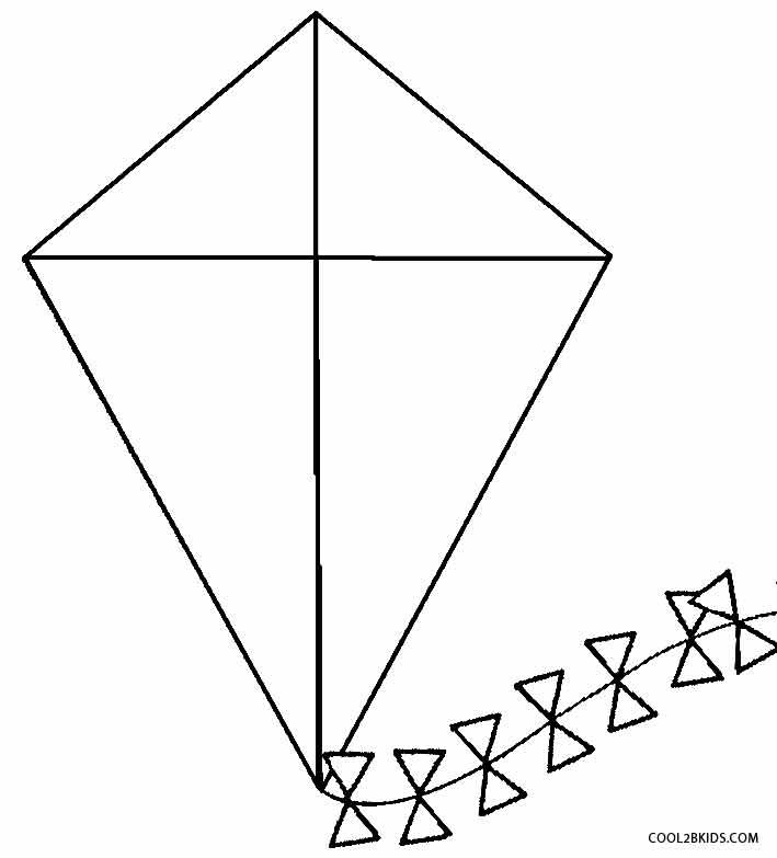 Kite Coloring Sheet