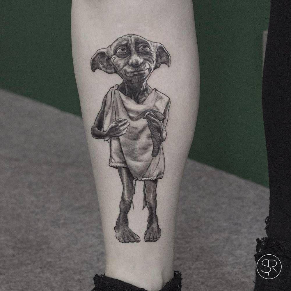 Little Tattoos Dobby The House Elf Tattoo On Kimberly Tattoo Harry Potter Tattoo Sleeve Elf Tattoo Harry Potter Tattoos