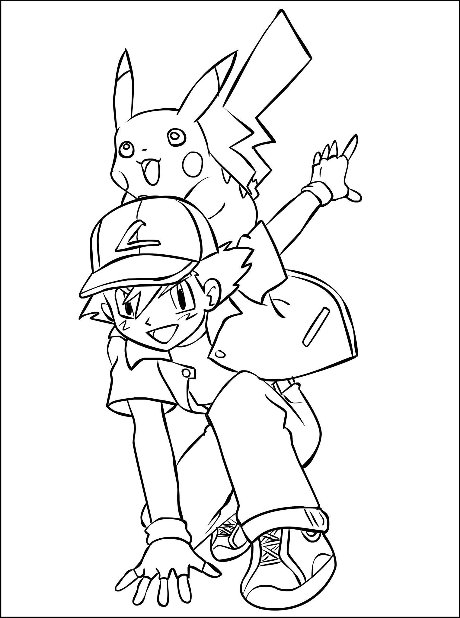 Coloriages Pokemon Sasha Pikachu Prets Pour De Nouvelles
