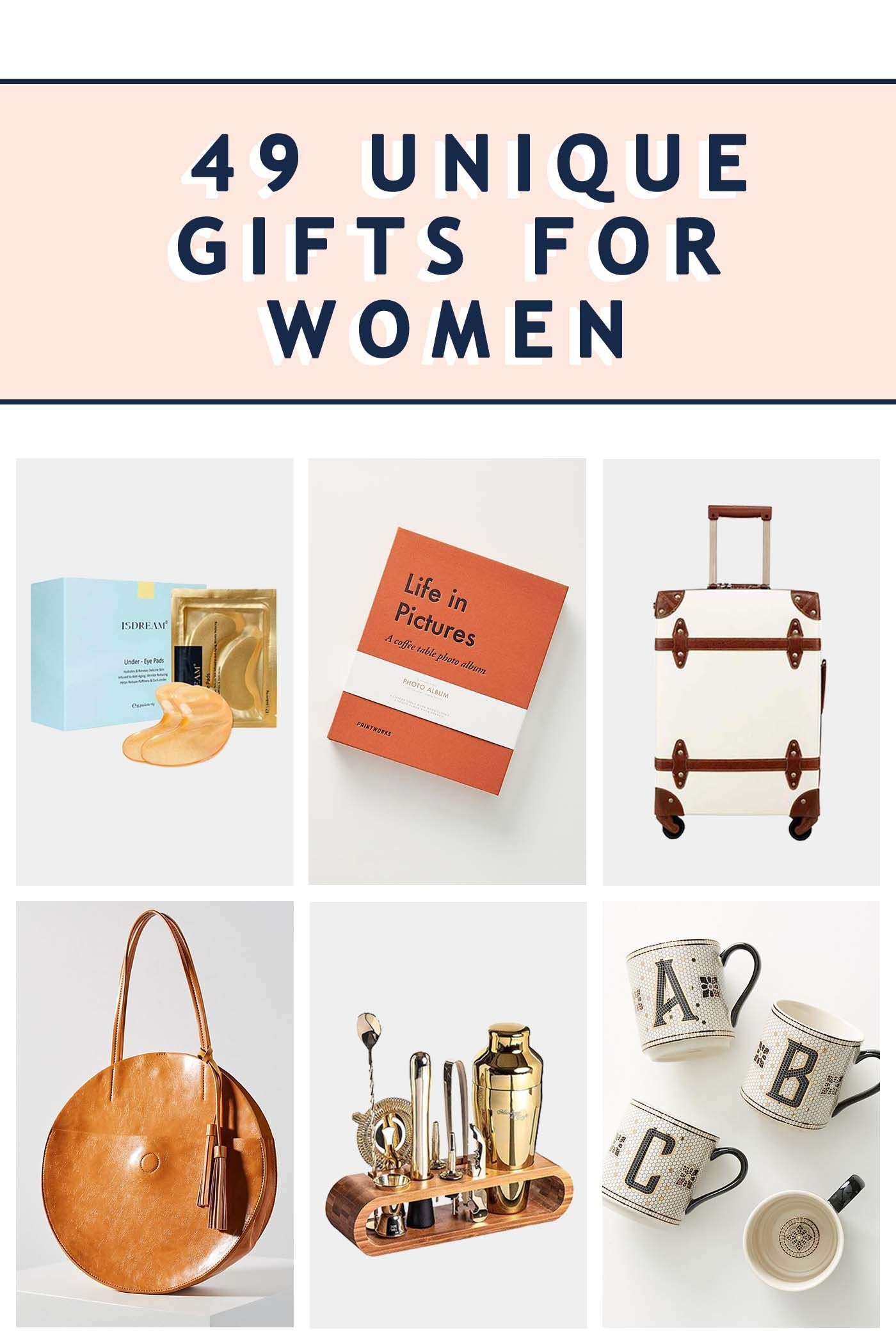 49 Unique Gifts For Women For Any Occasion Sugar Cloth Unique Gifts For Women Unique Christmas Gifts Gifts For Women
