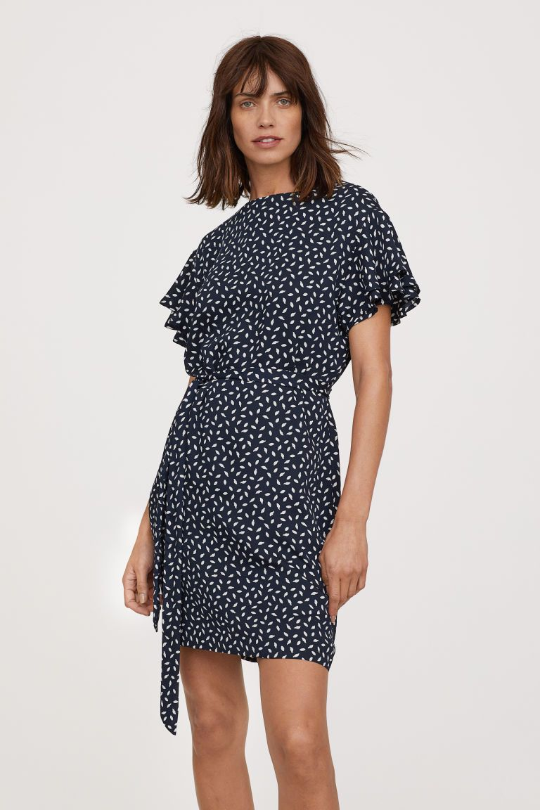 7c06288ffbd Flounce-sleeved Dress in 2019 | WISH LIST :: CLOTHES + SUCH | Dress ...