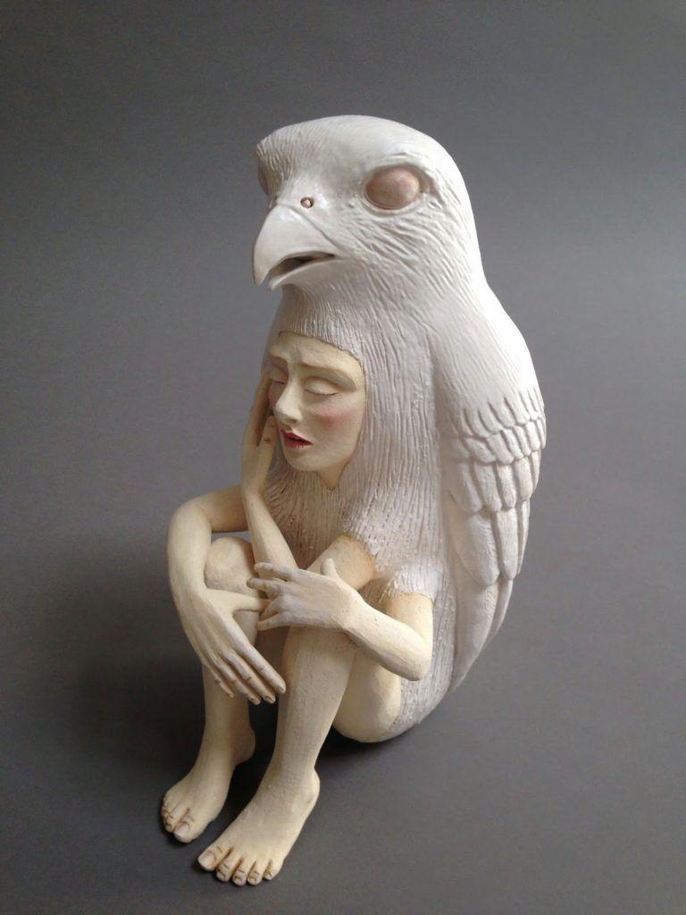 Crystal Morey Ceramics In 2020 Ceramic Sculpture Human Art Animal Sculptures