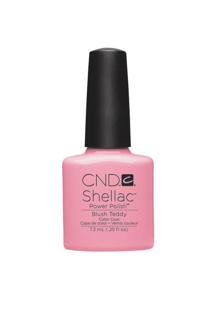 #blush #teddy #cnd #shellac #nails #nude