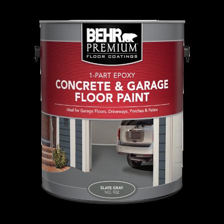 1 Part Epoxy Concrete Garage Floor Paint Behr Premium Behr Painted Floors Floor Paint Colors Painting Concrete