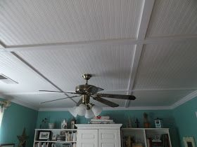 Wallpaper Beadboard Cover Drop Ceiling Panels Looks
