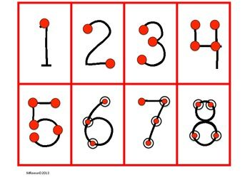 Crush image inside touch math numbers 1-9 printable