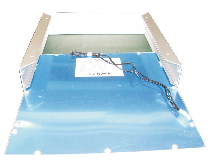 Aufbaurahmen Metall für 120x30 LED Panel zur Befestigung an der ...