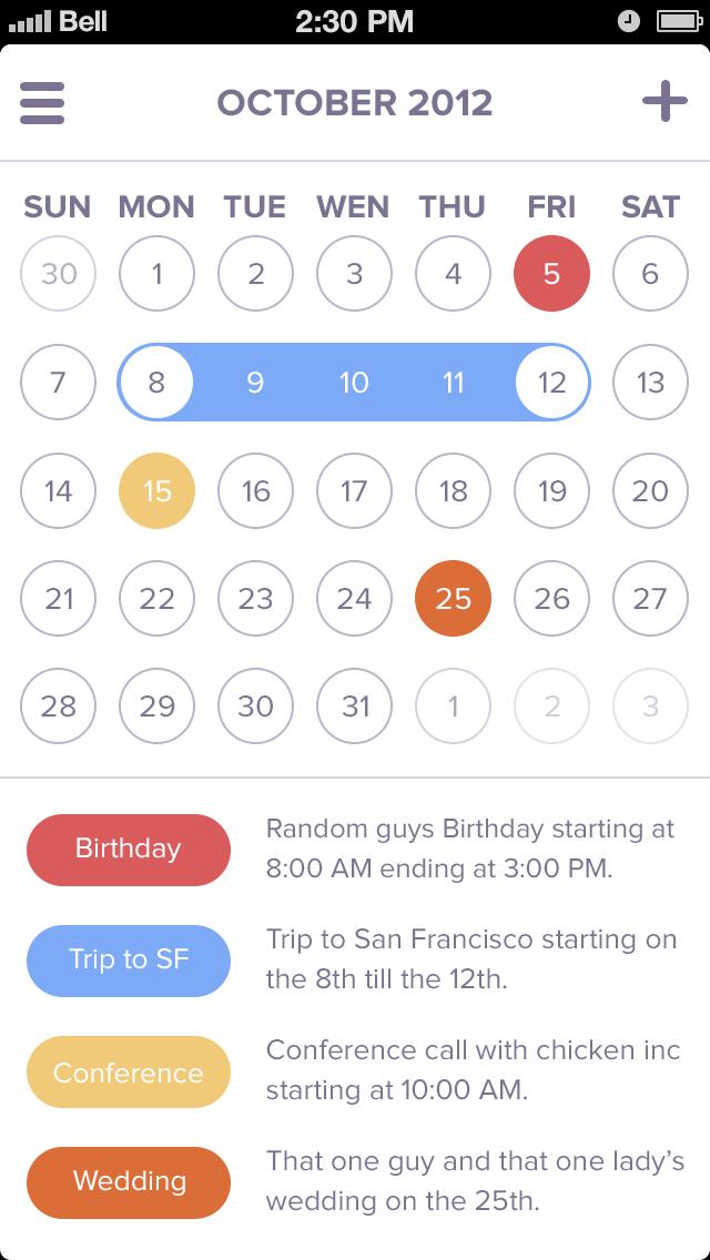 Event Calendar Ui Design : Calendar app ui filemaker ideas pinterest