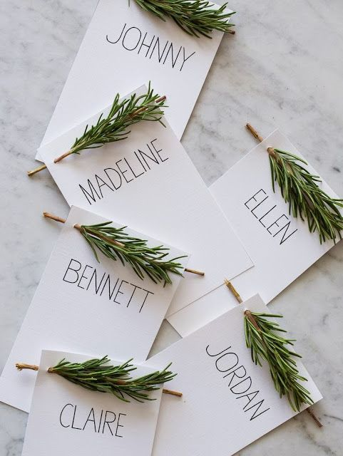 Adorable and inexpensive Wedding Place Card Holders. DIY!!! | Party ...