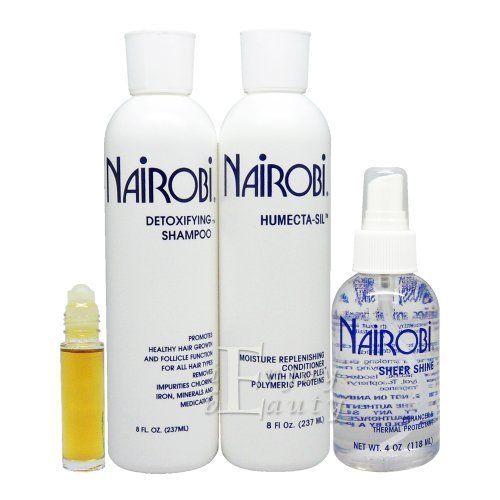 Nairobi Detoxifying Shampoo Humectasil Conditioner 8oz Sheer Shine 4oz Set Want To Know More Click On The Image Detoxifying Shampoo Shampoo Moisturize Hair