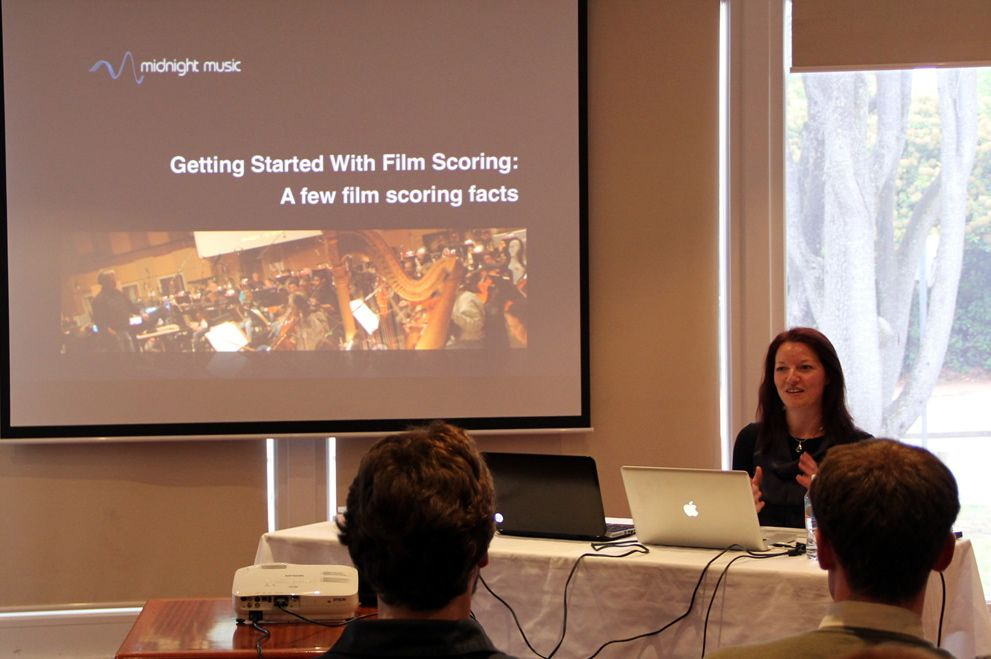 Katie presenting in Canberra