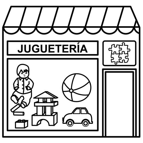 Dibujos De Tiendas Para Colorear עוד גן Pinterest Spanish