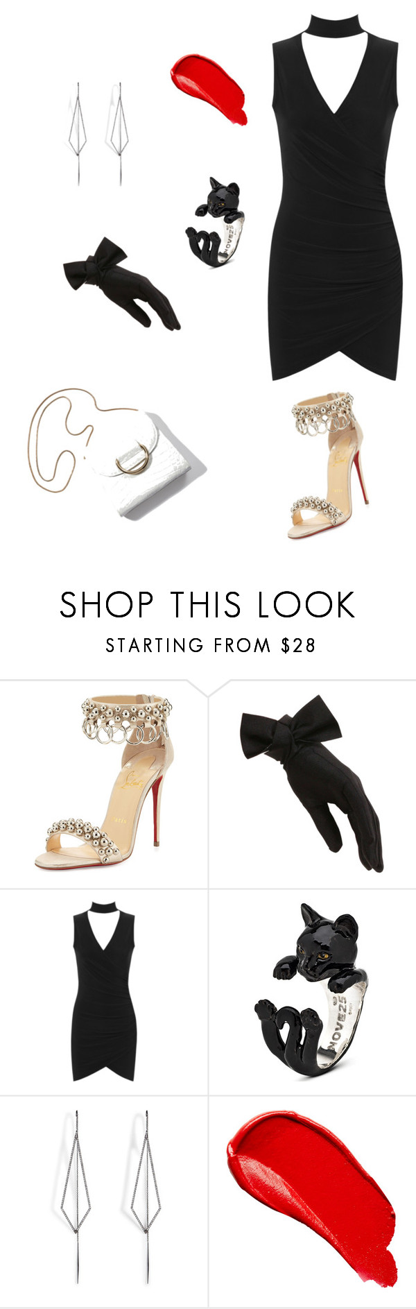 """Untitled #2"" by swityshinde ❤ liked on Polyvore featuring Christian Louboutin, Black, WearAll, Diane Kordas and Burberry"