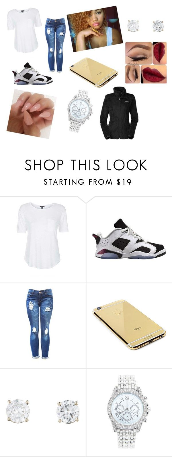 """""""Untitled #166"""" by sirionnaw on Polyvore featuring beauty, Topshop, Retrò, Goldgenie, Lane Bryant and The North Face"""