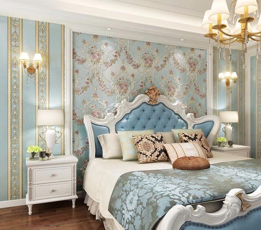 Best Deep Embossed Pastoral 3D Flooring Bedroom Tv Background 400 x 300