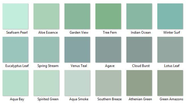 Blue Green Paints Interior Paint Color Schemes Behr Greens 2 I Like Aqua Smoke Southern Breeze And Lotus Leaf