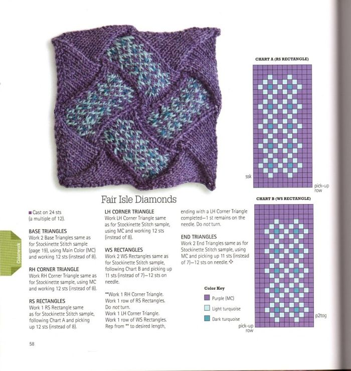 Entrelac - Fair Isle Diamonds | Knitting - Free pattern | CROCHET ...