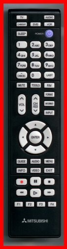 Mitsubishi Remote Control 290p187a20 3339bc0 000 R Originally Supplied With Lt 40164 Lt 46164 Lt 55154 Electronics Audio Electronic Accessories Remote Control