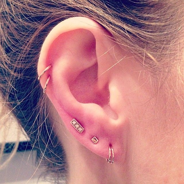 Ring Sizes For Auricle Piercing Sparkle Shine Pinterest