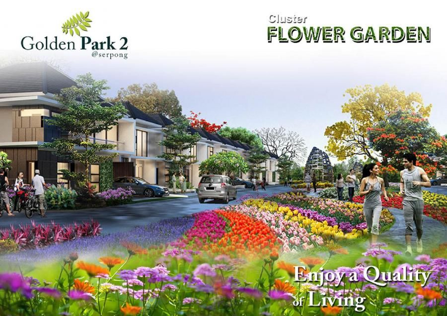 Golden Park 2 Cluster Flower Garden Perumahan Baru