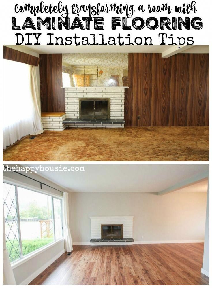 Completely transforming a room with laminate flooring DIY